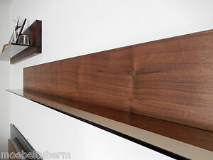 wandboard nussbaum massiv holz board regal glasregal regalbrett neu au auf ma ebay. Black Bedroom Furniture Sets. Home Design Ideas