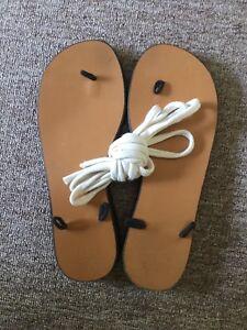 ciabatte in cordini pag o pelle tipo adattabili scarpe lacci Stile 38 Ibiza wq8vtInxR