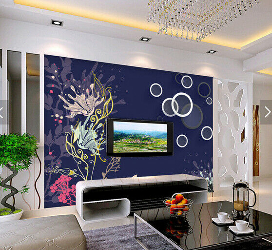 3D Flower Painting 89 Wallpaper Mural Paper Wall Print Wallpaper Murals UK Carly