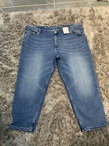*M /& S* STRAIGHT LEG ANKLE GRAZIER JEANS TROUSERS Size 14 Reg BNWT rrp £25