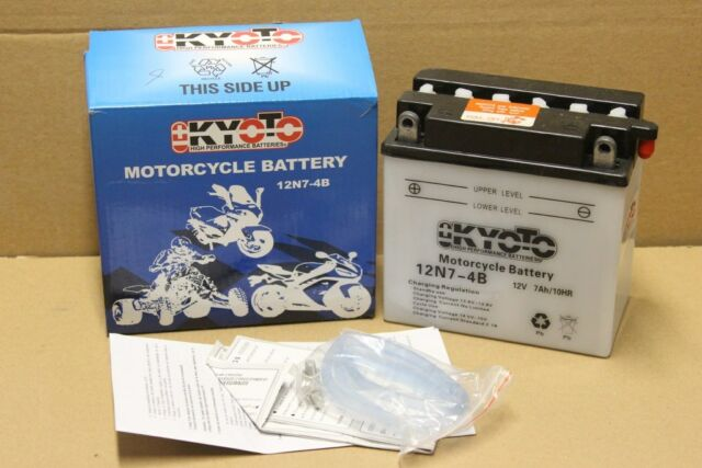 NEUF : Batterie pour MOTO en 12V / 7Ah , KYOTO 12N7-4B , livré SANS acide