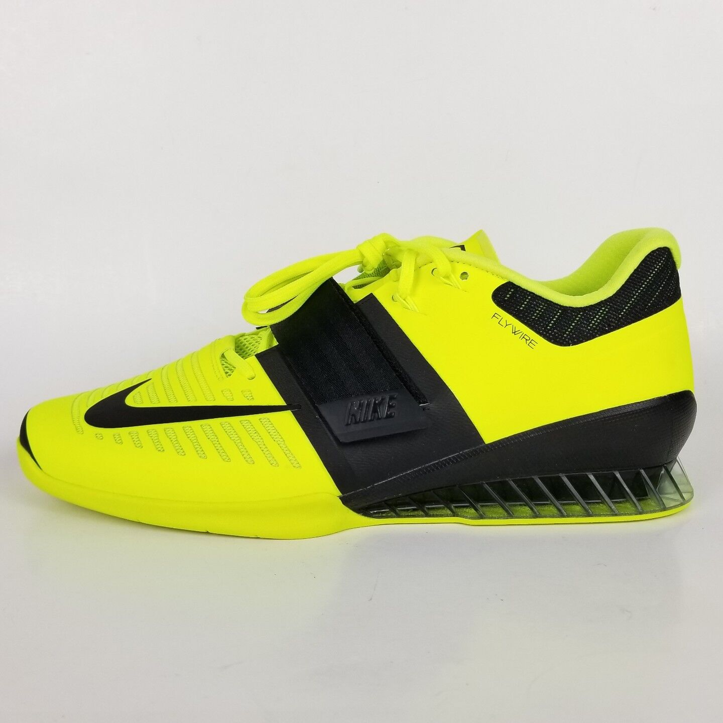 online store ab4ff eec4d Nike Romaleos 3 3 3 Weight Lifting Mens Shoes Volt Black 852933-700 Size 15