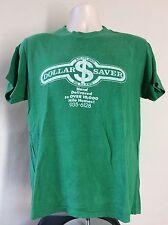 Vtg 70s 80s Hawaii Big Island Dollar Saver T-Shirt Green M Hilo Stedman Hi Cru