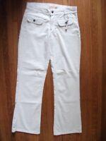 Steve & Barry's Womens 6 R Cream Ivory Brush Corduroy Stretch Boot Cut Pants