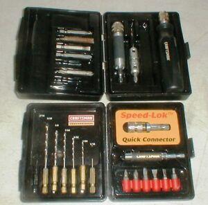 Lot-2-Craftsman-Pro-Speed-Lok-Drill-Bit-amp-Screwdriver-Sets-SEE-926140-926172