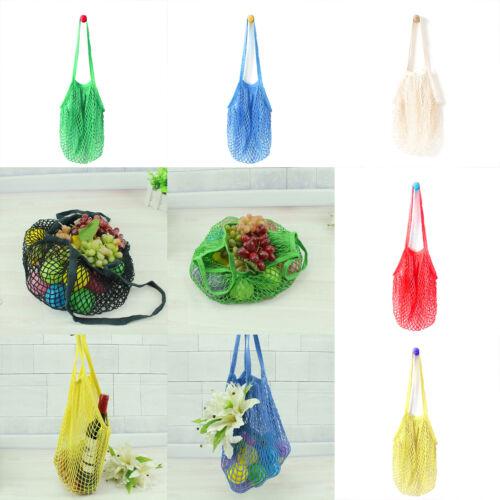 Eco Reusable Shopping String Grocery Handbags Woven Net Tote Mesh Bag Fishnet