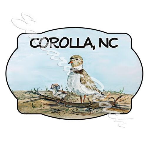 Corolla NC Car Truck RV Boat Cooler OBX Shorebird Scene Vinyl Decal