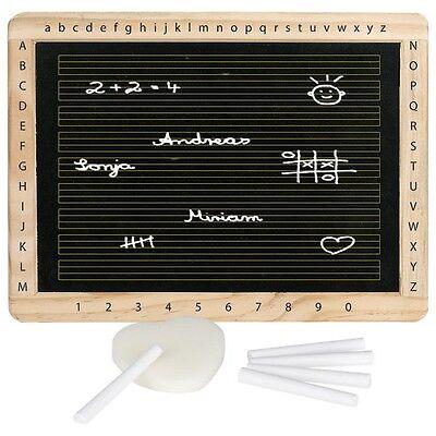 Tafel Schreibtafel Schultafel 5 Kreiden und Schwamm DIN A4 Goki 58950