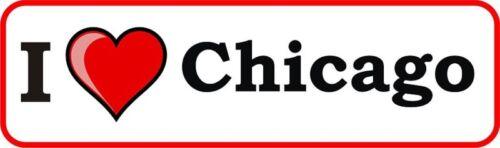 I LOVE CHICAGO vinyl bumper sticker decal heart gift