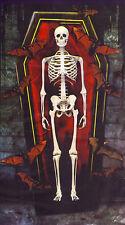 6-Ft. Skeleton in a Coffin Box Bats Silhouette Halloween Wall Murale