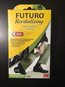 99ef3db55860 Image is loading Futuro-Revitalizing-Dress-Socks-for-Men-Large-Moderate-