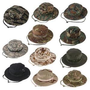 Combat-Camo-Army-Military-Boonie-Bush-Jungle-Sun-Hat-Outdoor-Hiking-Fishing-Cap