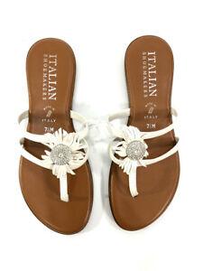 f277efc6440f Italian Shoemakers Women s Size 7.5 Jeweled Thong Flat Sandal Made ...