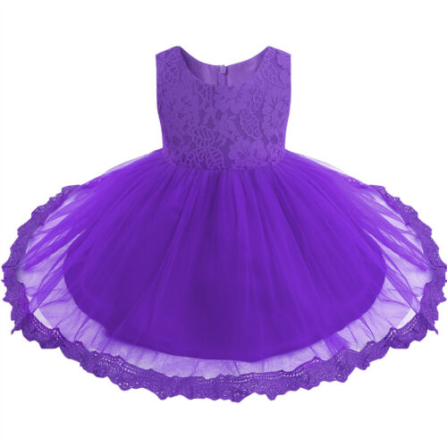 UK Flower Baby Girl Dress Girls Kids Wedding Pageant Formal Party Princess Dress