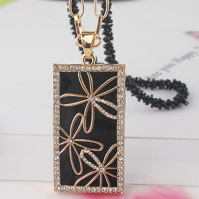 """New Womens 14k Gold Plated 30"""" Dress Chain Pendant Rectangle Necklace JD1810"""
