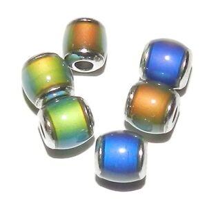 MC114-Color-Changing-Thermo-Sensitive-Liquid-Crystal-Mood-Bead-7mm-Barrel-6pc