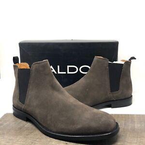 ALDO Vianello Suede Chelsea Boots Dark