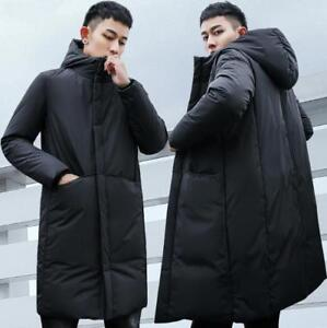 43a92175d Mens Korean Thick Down Coat Puffer Jacket Hoodie Padded Winter Parka ...