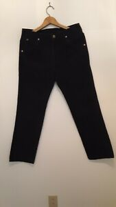VINTAGE-LEE-Mens-Blue-Corduroy-Trousers-33x30-Made-in-USA-rare-fast-ship