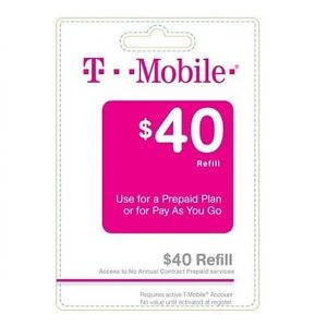 T mobile 40 refill ebay for T mobile refill