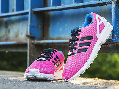 Adidas ZX Flux Trainers Semi Solar Pink / Core Black / Off White B34502