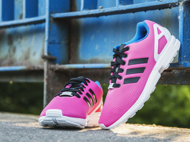 Adidas ZX Flux Trainers Semi Solar Pink / Core Black / Off White B34502