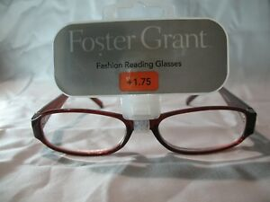 ad9ec4b8a6d Foster Grant Womens Brown Fashion Reading Glasses +1.25 1.75 2.25 ...