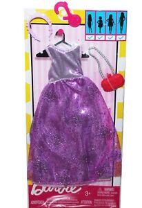 Genuine-Mattel-Barbie-Doll-Clothes-Dress-Headband-Purse-Fashion-Pack