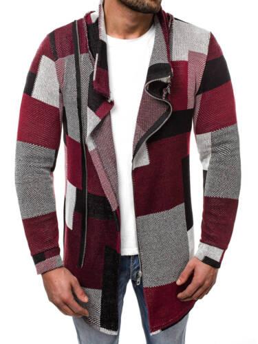 Strickjacke Pullover Langarmshirt Strickpullover Pulli Herren OZONEE NOR//3503