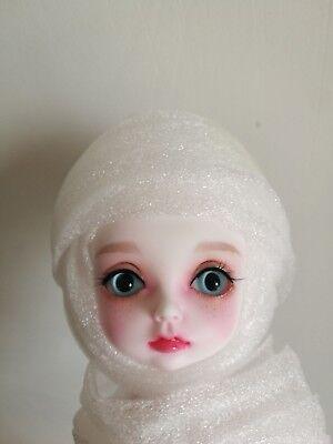 1//8 BJD Doll Rabbit Animal free eyes face up Resin White skin