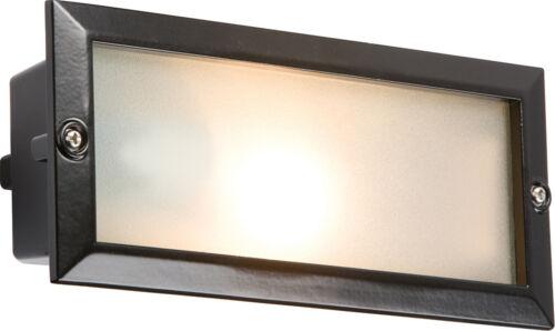 Knightsbridge IP44 E27 Bricklight Plain et lames Capot Noir x1
