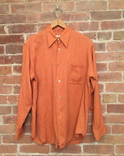 Equipment Mens Shirt, 100% Linen, Size Medium, Bur