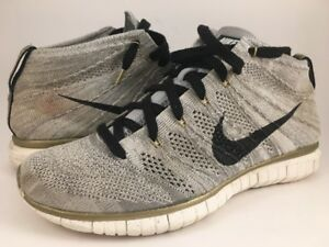 detailed look 58066 13945 Nike Free Flyknit Chukka PR QS Gold Medal Trophy 640652-100 Size 8.5 ...