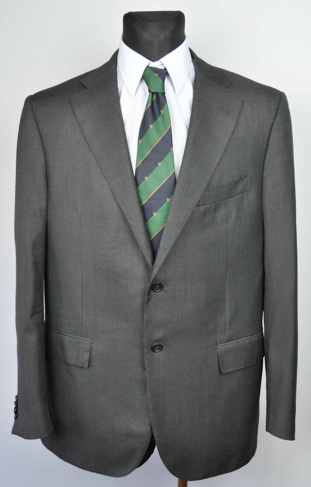 CORNELIANI Pattern Blazer 20% SILK & 80% wolleUK 44R jacke EU 54R Coat Suit