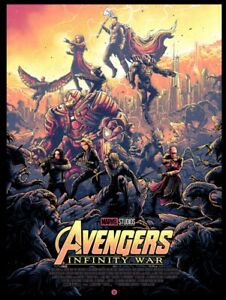 Avengers-Infinity-War-Regular-Screen-Print-Poster-By-Dan-Mumford-18-x24-Marvel