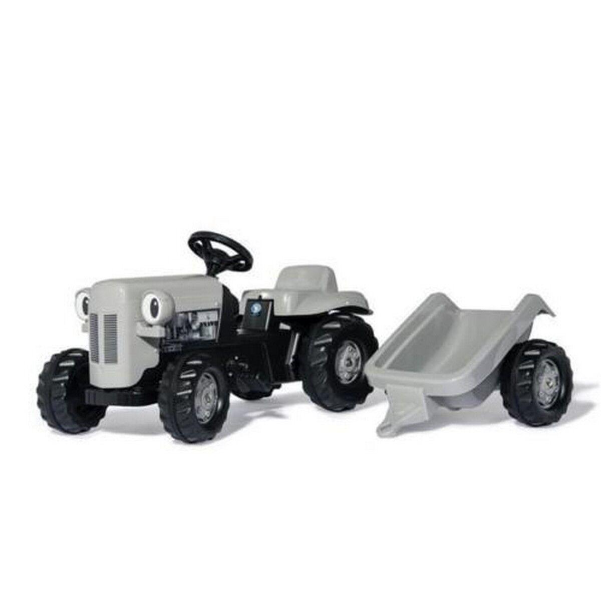 Rolly Toys Rolly Niño Pequeño Gris Fergie Y Remolque De Juguete Paseo En Tractor De Pedal
