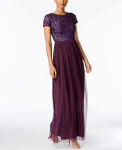 Adrianna-Papell-Sequined-Tulle-A-Line-Gown-MSRP-199-Size-6-12A-489-Blm