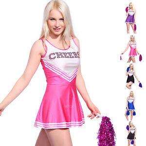 Sexy-Cheerleader-Kostuem-Kleider-Uniform-Cheerleading-Cheer-Leader-5-Farben-5-Groe