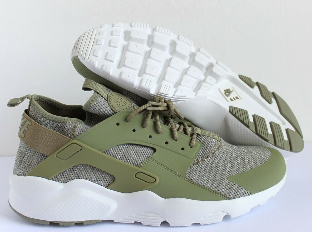 Nike Air Huarache courir Ultra BR Trooper 833147-201 Sz 14 Green Summit blanc