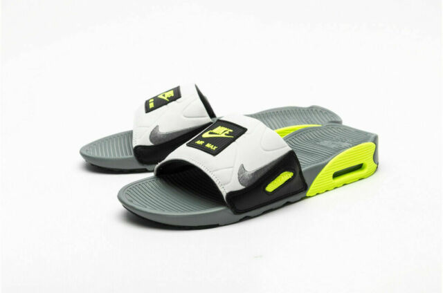 Nike Air Max 90 Slide Sandal Smoke Grey/volt Mens Size 15 Bq4635 ...
