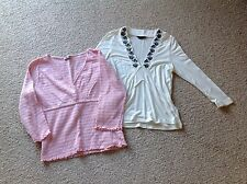 NEW - 2 SPRING TOPS Pink & Cream - Size 12