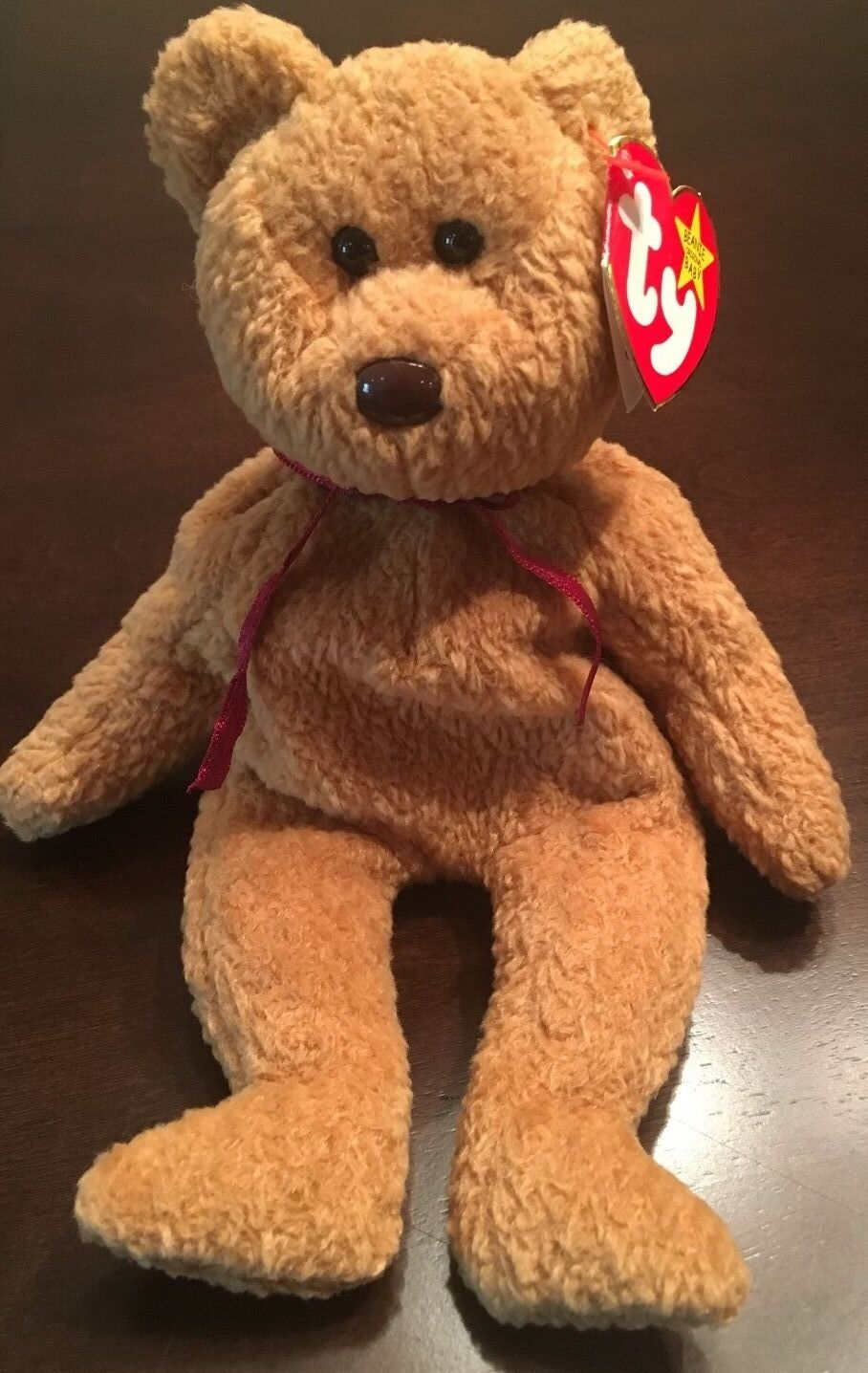 00a4910a50f RARE TY CURLY BEAR BEANIE BABY - RETIRED WITH TAG ERRORS aebe46 ...