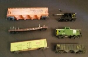 Vintage Train Lot HO Scale 6 Cars Mixed Lot #1