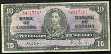 BC-24a 1937 $10 TEN DOLLARS BANK OF CANADA OSBOURNE/TOWERS A/D PREFIX