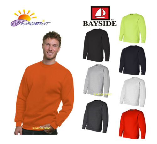 BA1102 Bayside USA-Made Adult Adult Crew Neck Fleece