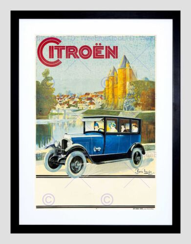 CITROEN ADVERT CAR 1925 HOME DECO BLACK FRAMED ART PRINT PICTURE B12X6959