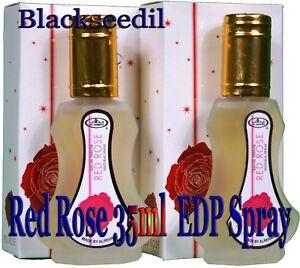 2x-Red-Rose-35ml-Oriental-Eau-De-Perfume-Spray-by-Al-Rehab