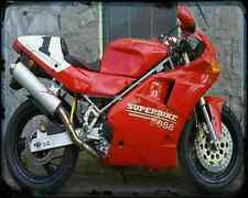 Ducati 888 Sp5 94 4 A4 Photo Print Motorbike Vintage Aged