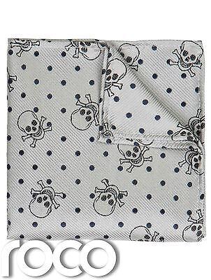 Totenkopf Aufdruck Taschentuch Zubehör, Grau Zubehör Für Jungen