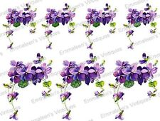 Vintage Image Retro Flowers and Roses Bouquet Swag Waterslide Decals FL269